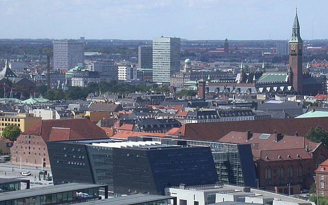 Skyline of Copenhagen, Denmark (photo credit: Paul Burani/Wikimedia Commons)