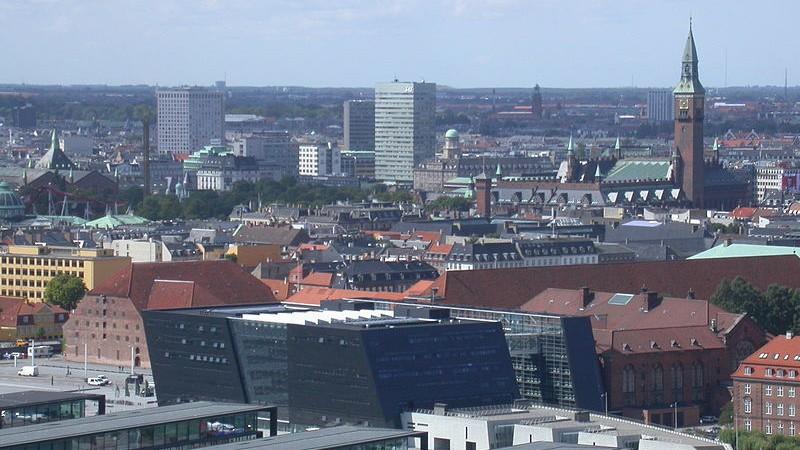 Skyline of Copenhagen, Denmark (Paul Burani/Wikimedia Commons)