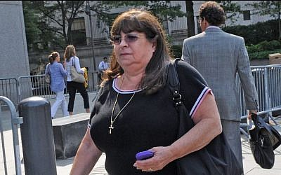 Jurors won't hear about secretary Annette Bongiorno's Mercedes or her vacation home or her shopping forays to pricey department stores. (photo credit: AP Photo/Louis Lanzano)