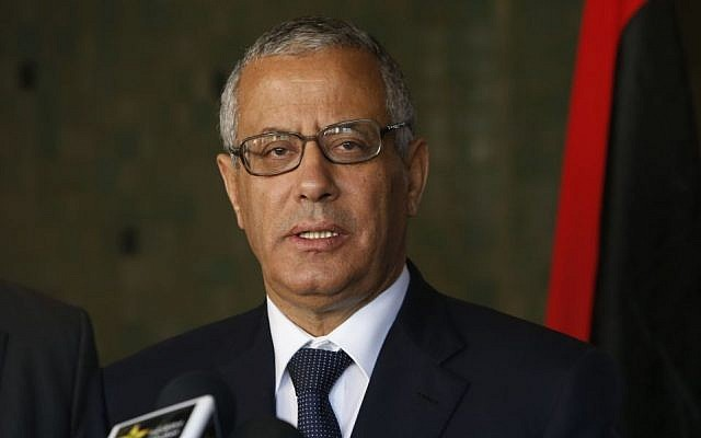 Libyan's Prime Minister Ali Zeidan speaks to the media during a press conference in Rabat, Morocco, Tuesday, October 8, 2013 (photo credit: AP/Abdeljalil Bounhar)