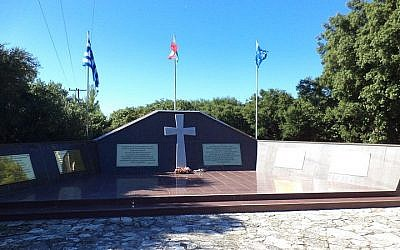 A memorial to fallen Italian soldiers on the island of Kefalonia, Greece (photo credit: George Tekmenidis/Wikimedia Commons)