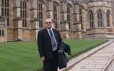 Prof. David Newman in front of Windsor Castle. (photo credit: courtesy)