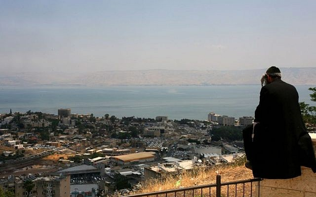 An overlook with a view of the Sea of Galilee and Tiberias. (photo credit: Chen Leopold/Flash90)