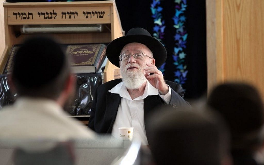 Kiryat Arba's Chief Rabbi Dov Lior (photo credit: Yossi Zamir/Flash90)