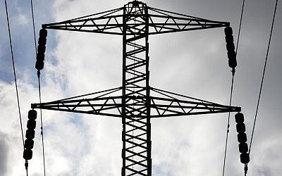 Power lines in Israel on December 27, 2012. (photo credit: Louis Fisher/Flash90)