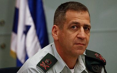 IDF Military Intelligence Director Major General Aviv Kochavi, August 08, 2013. (photo credit: FLASH90)