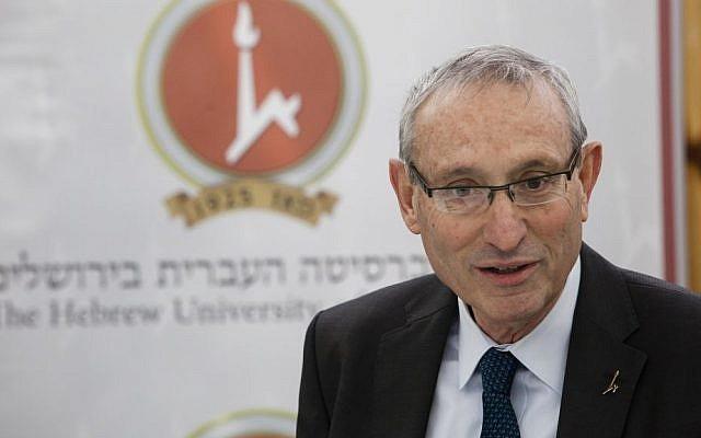 Hebrew University President Menachem Ben-Sasson  (photo credit: Flash90)