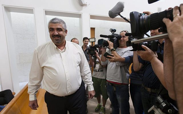 Bat Yam mayor Shlomo Lahiani at the Supreme Court in Jerusalem on Sunday. Lahiani was removed by the court as mayor, but can still run in Tuesday's elections (photo credit: Flash90)