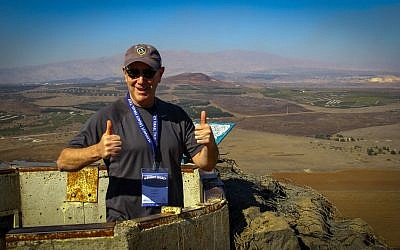 Participant Gary Stern on top of Mount Bental. (photo credit: courtesy Mayanot Legacy)