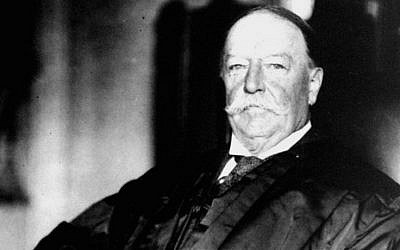 This 1930 file photo shows former President and US Supreme Court Chief Justice William Howard Taft in his judicial robes. (photo credit: AP Photo/Files)