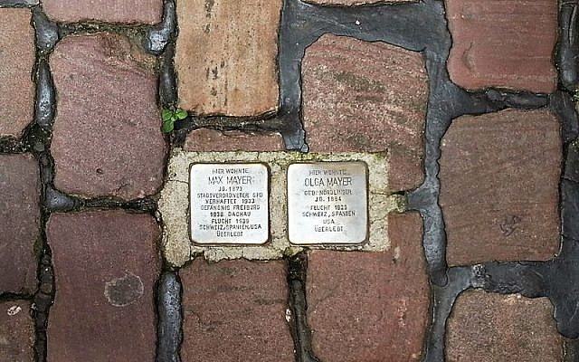 A 'stumbling block' in Heidelberg, Germany. Illustrative photo (CC-BY SA The Profitcy/Wikipedia)