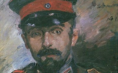 An oil portrait of the artist Hermann Struck by painter Lovis Corinth. (photo credit: Wikimedia)