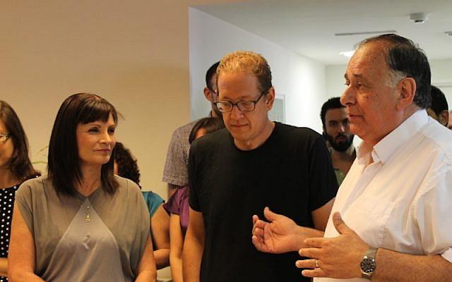 (L. to R.) Yael Mittelman, Jeff Pulver, and Yona Yahav (Photo credit: Courtesy)