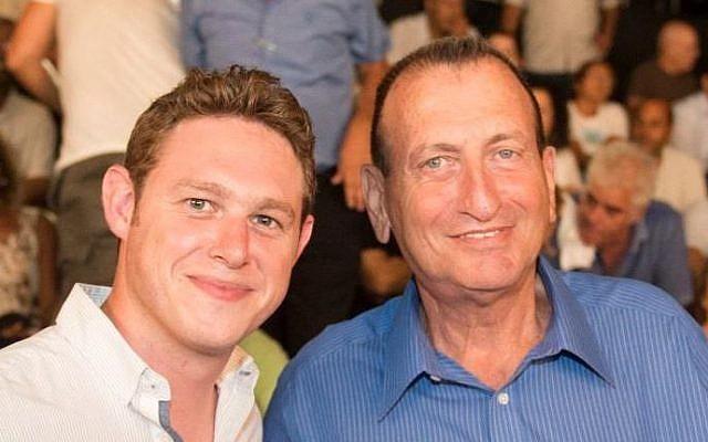Jonathan Javor (left), with Tel Aviv Mayor Ron Huldai (photo credit: Courtesy Jonathan Javor)