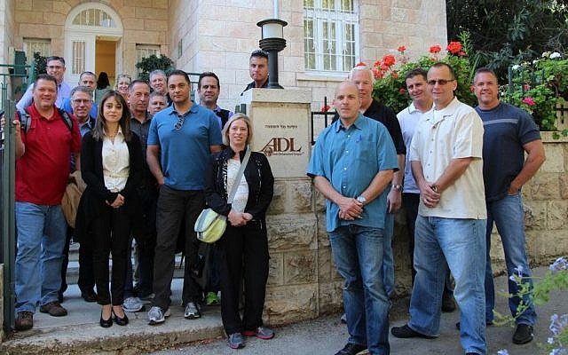 Delegation at the ADL office in Jerusalem (photo credit: ADL)