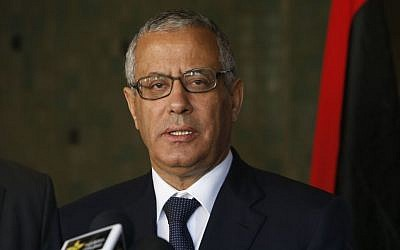 Libyan Prime Minister Ali Zidan, October 8, 2013 (photo credit: AP/Abdeljalil Bounhar)