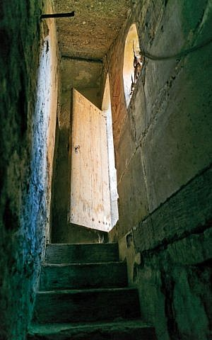 Steps leading to a ghetto mikveh (photo credit: courtesy)
