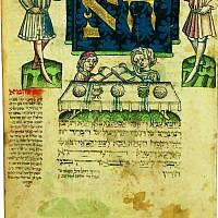 A page from a 15th century Jewish prayer book from Ulm, Germany, part of the Palatina Library's Di Rossi collection. (Courtesy: Palatina Library)