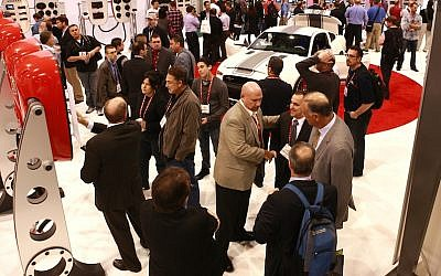 On the floor at CES 2013 (photo credit: Courtesy)