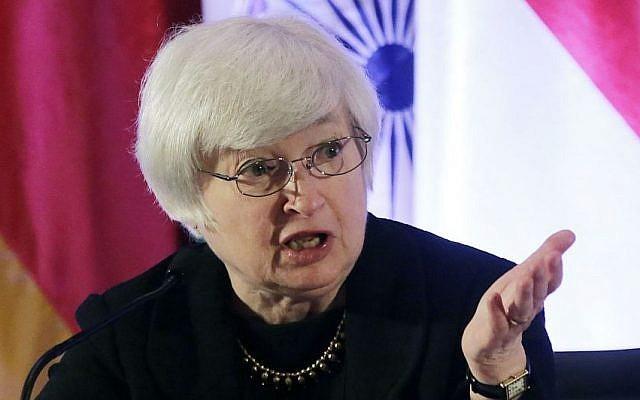 Janet Yellen (photo credit: AP/Eugene Hoshiko/File)
