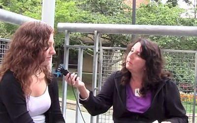 'Where is Normandy?' asks Rhonda Fink-Whitman. (photo credit: YouTube screenshot)