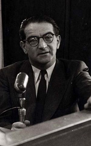 Rudolf Kastner, photographed at Israel Radio in the 1950s (photo credit: Courtesy)