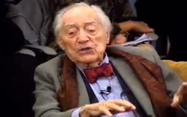 Stanley Kauffmann (photo credit: YouTube Screenshot)