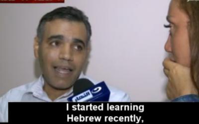 Ayman being interviewed on Egyptian television. (al-Nahar TV/MEMRI TV)
