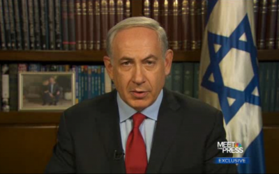 Prime Minister Benjamin Netanyahu during  a recent interview (photo credit: screen capture/NBC)