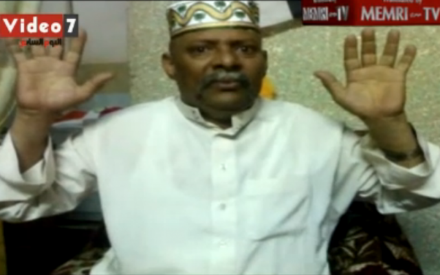Hajj Abd al-Nabi, Egypt's chief executioner (screen capture: MEMRI)