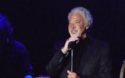 Tom Jones in Tel Aviv, October 2013 (photo credit: YouTube screenshot)