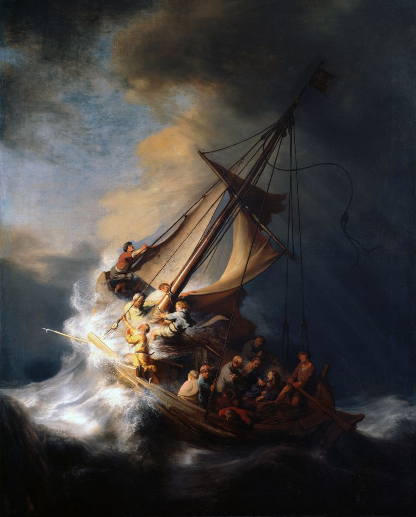 Image result for rembrandt's storm on the sea of galilee