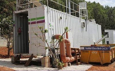 An Applied CleanTech SRS system in Safed (Photo credit: Courtesy)