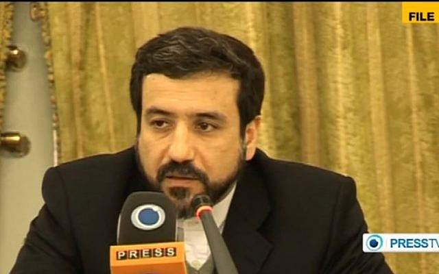 Iranian Deputy Foreign Minister Abbas Araghchi (photo credit: screen capture/YouTube/PressTV)