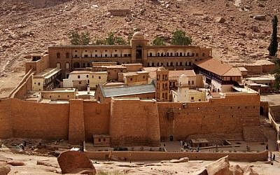 St-Catherine's Monastery in South Sinai. (photo credit: CC-BY-SA, Berthold Werner/Wikimedia)