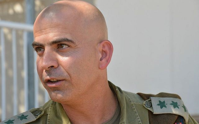 Colonel Ghassan Alian seen during a patrol near the West Bank city of Jenin on July 30, 2013. (photo credit: Yossi Zeliger/Flash90)