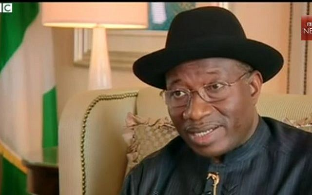 Former president of Nigeria Goodluck Jonathan (screencapture: Youtube/BBCWorldNewsWatch)