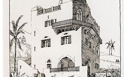 An etching of the Hermann Struck House by Struck himself. (photo credit: Hermann Struck House)