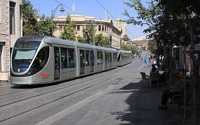 Light Rail, Jaffa Road (photo credit: Shmuel Bar-Am)