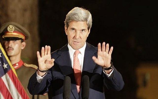 US Secretary of State John Kerry. (photo credit: AP/Ahmad Jamshid)