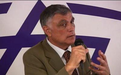 Haim Koren, Israeli ambassador to Egypt, October 2013 (screen capture/YouTube/medisraelforfred)