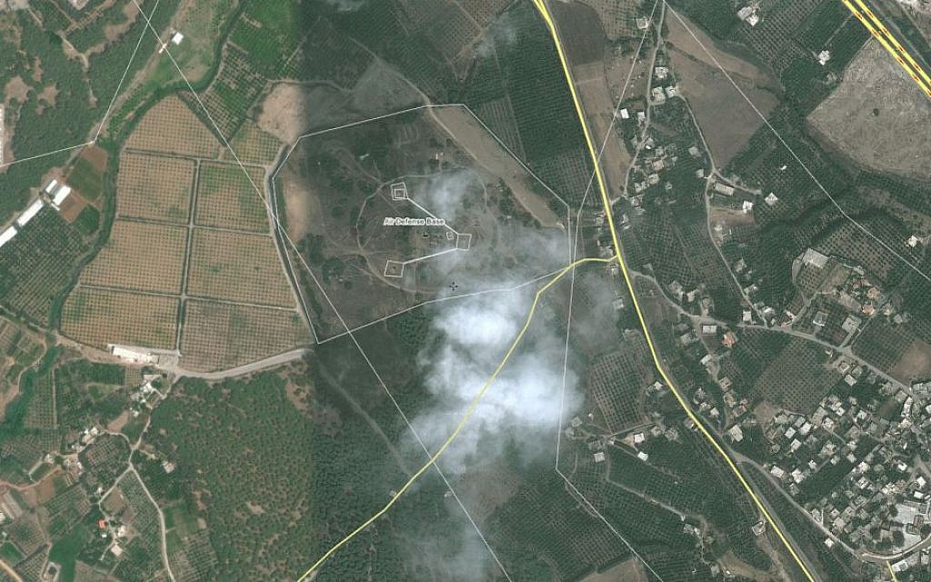 Satellite footage of an alleged missile base in Latakia, Syria (photo credit: Wikimapia)