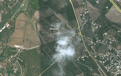 Satellite footage of alleged missile base in Latakia, Syria (photo credit: Wikimapia)