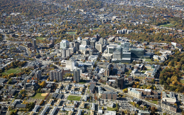 Boston's Longwood Medical District, where several thousand Israelis work or study (photo credit: public domain)