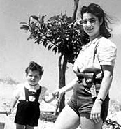 Mira Ben-Ari with son, Dani (Photo credit: wikicommons)