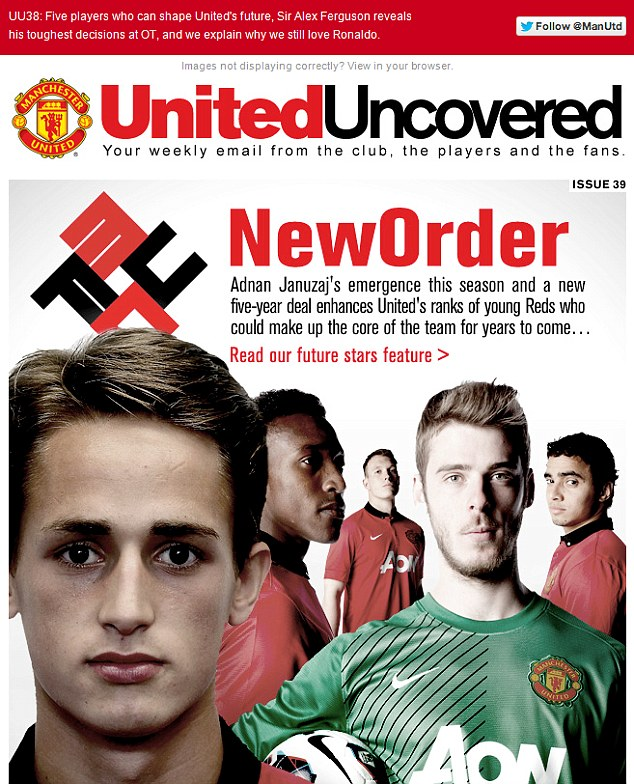 The offending Manchester United email