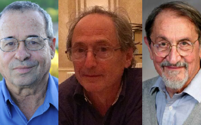 From left to right, 2013 Nobel Prize in chemistry winners Arieh Warshel, Michael Levitt and Martin Karplus. (photo credit: CC BY Wikipedia, Harvard University)