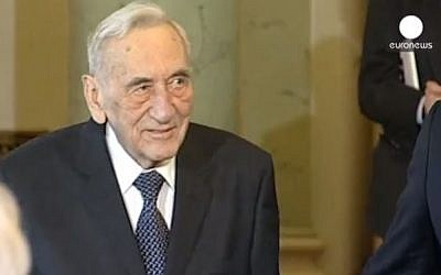 Former Polish Prime Minister Tadeusz Mazowiecki. (screen capture/:Youtube/Euronews)