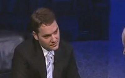Romanian Minister Dan Sova (photo credit: YouTube screen capture)