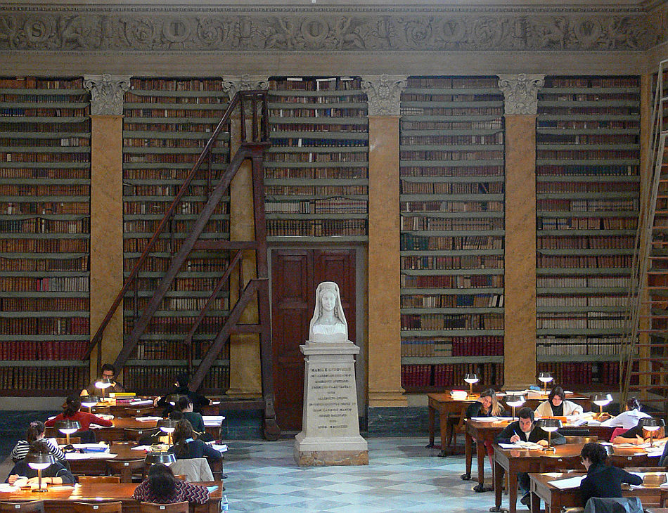 Interior of Parma, Italy's Palatina Library, home of one of the world's largest collections of Hebrew manuscripts (Courtesy of Palatina Library)